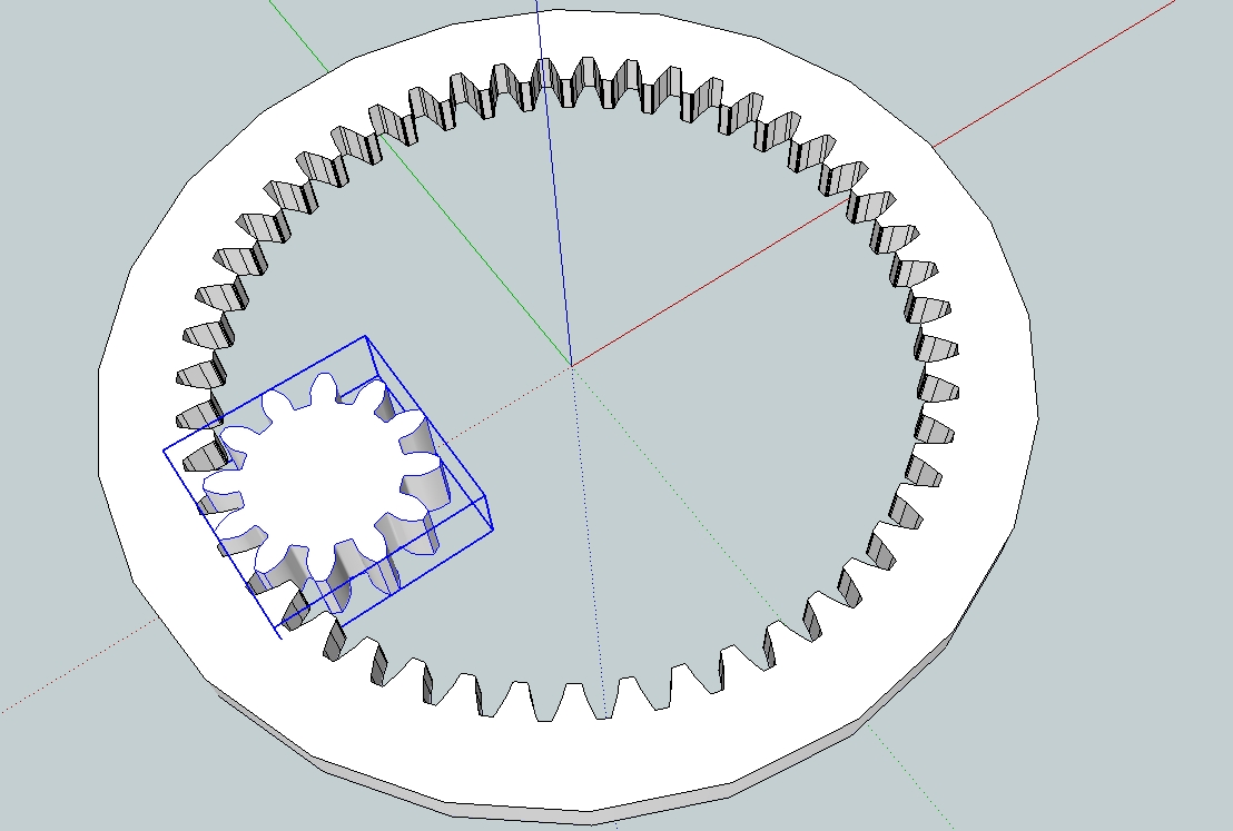 Drawing gears in Sketchup. | Capolight Electronics Projects.