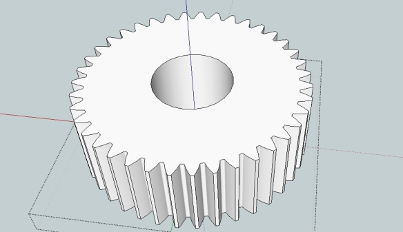 Drawing gears in Sketchup  | Capolight Electronics Projects