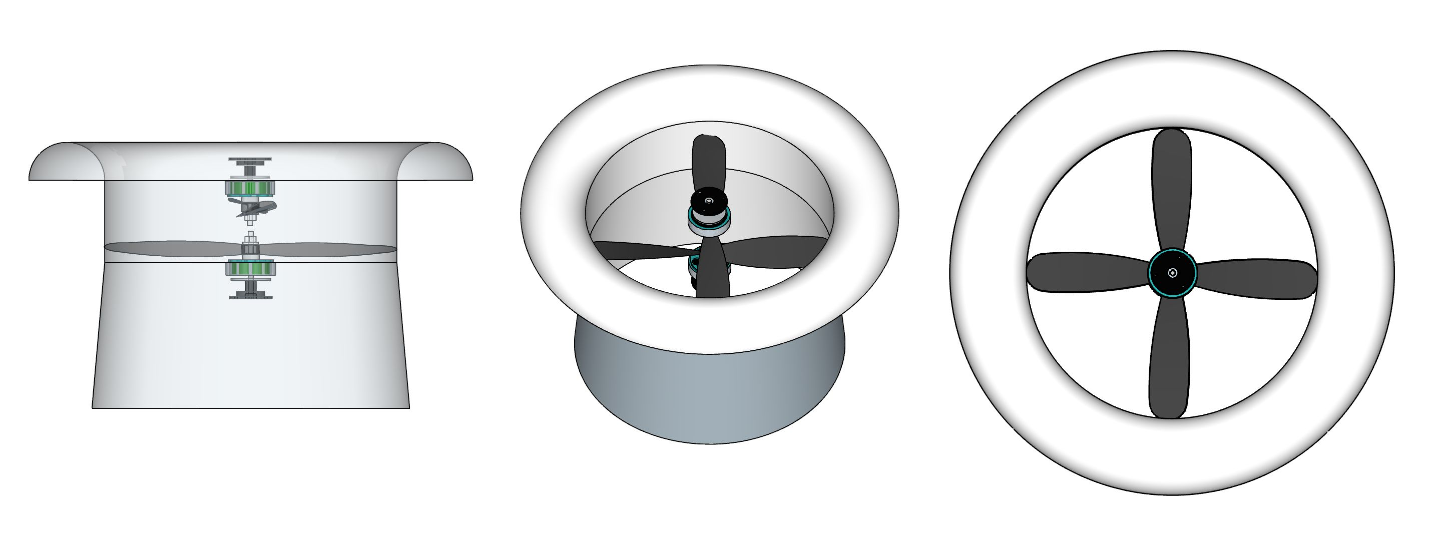The ideal shape for a multirotor 'ducted-fan' that can dramatically