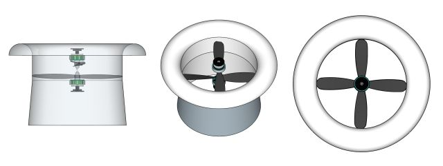 Double rotor contra-rotating version (left image made transparent)